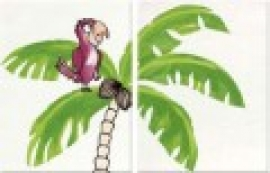BONGOBONGO! decor пальма и попугай 25x33