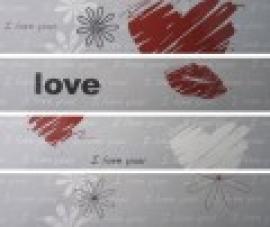 LOVE grau 25x5.5