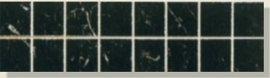 OLIMPIA LIST. MOSAICO NERO 8*32